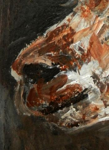 brown alpaca, alpaca painting, alpaca gift, llama art