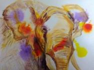African Elephant print, giclee elephant print
