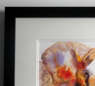 African Elephant, acrylic painting