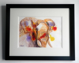 African Elephant, elephant painting, disappearing wildlife