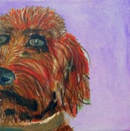 Golden Doodle painting, dog art