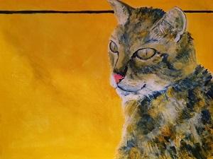 tabby cat painting, cat art, cat pet portrait, cat print