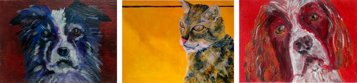 cat painting, dog painting, pet portraits