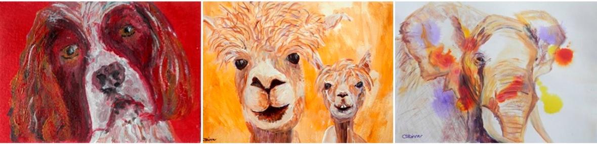 springer spaniel art, alpaca painting, African elephant decor
