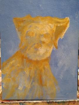 pet portrait, acrylic painting, yorkshire terrier