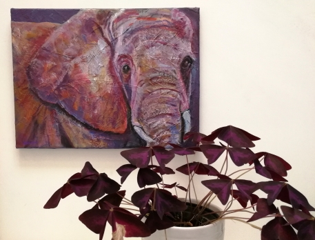 elephant canvas, elephant painting, elephant art