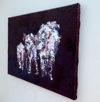 elephant family painting, elephant lover gift